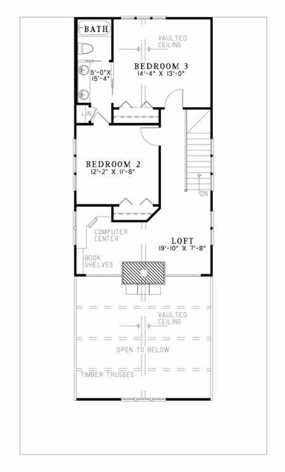 Large images for House Plan        Floor Plan Second Story