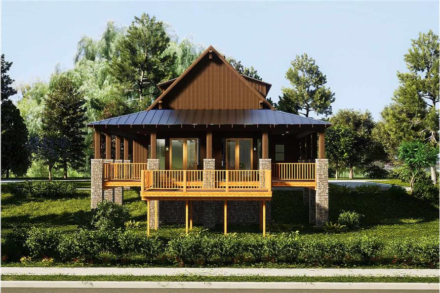 Front View of this 3-Bedroom,2206 Sq Ft Plan -153-1910