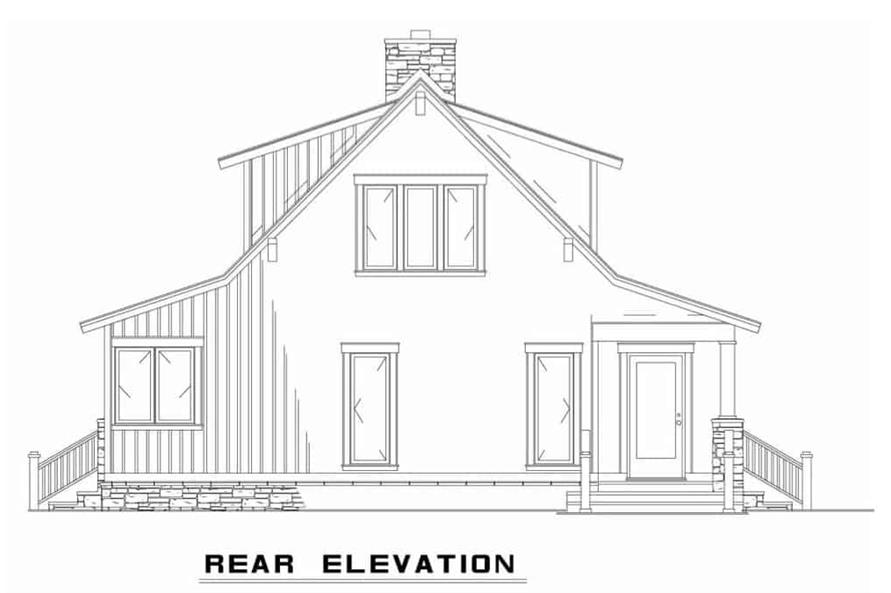 Home Plan Rear Elevation of this 3-Bedroom,2206 Sq Ft Plan -153-1910
