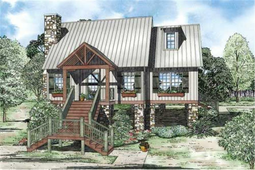 2-Bedroom, 1425 Sq Ft Cape Cod Home Plan - 153-1911 - Main Exterior
