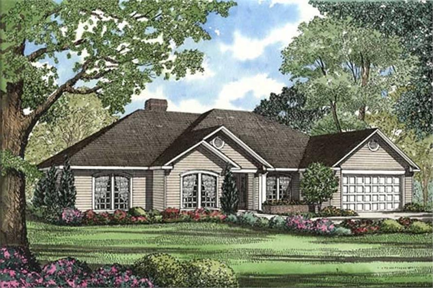 4-Bedroom, 2107 Sq Ft Southern House Plan - 153-1915 - Front Exterior
