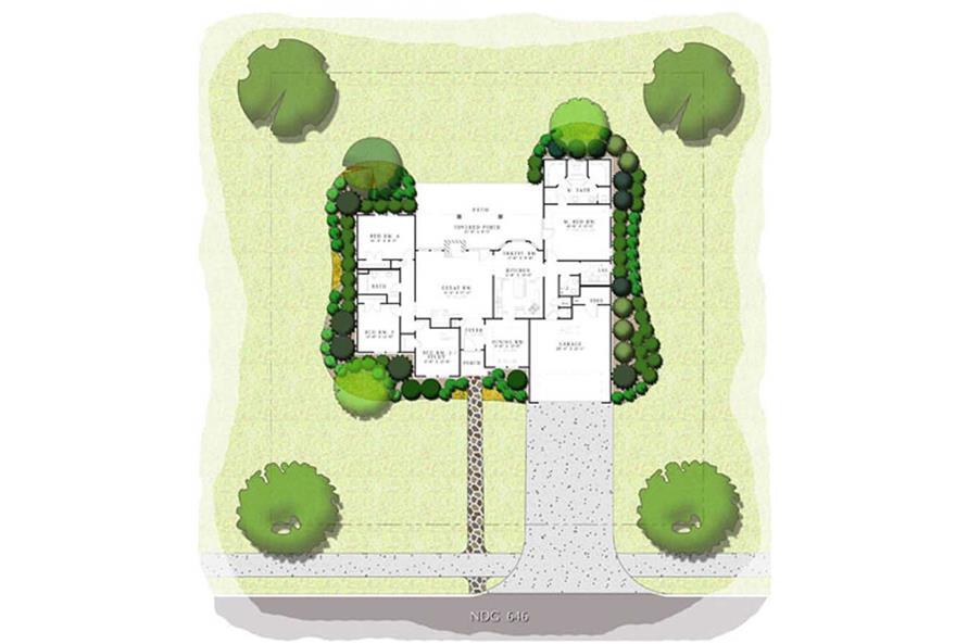 PRESENTATION FLOOR PLAN of this 4-Bedroom,2107 Sq Ft Plan -2107