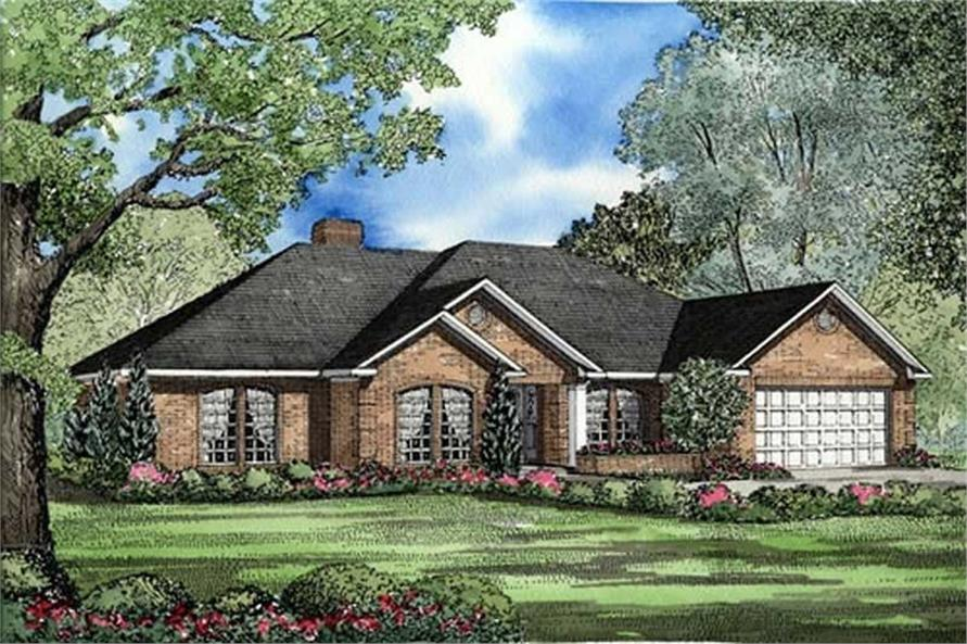 4-Bedroom, 2158 Sq Ft Southern House Plan - 153-1916 - Front Exterior