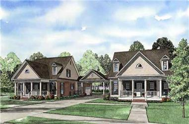 3-Bedroom, 2235 Sq Ft Country Home Plan - 153-1918 - Main Exterior
