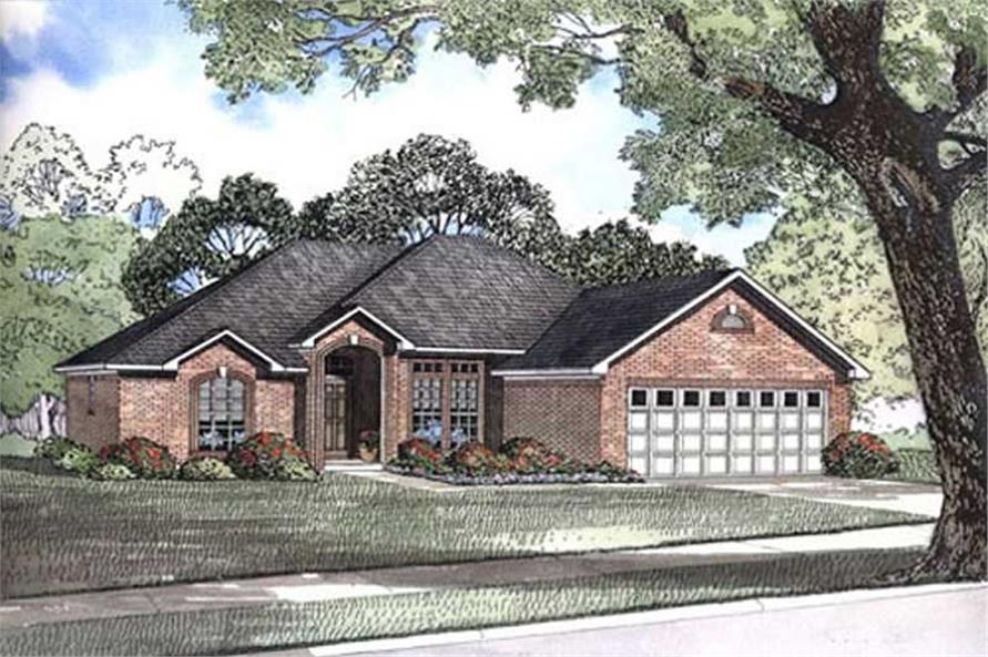 3-Bedroom, 1636 Sq Ft Small House Plans - 153-1919 - Front Exterior
