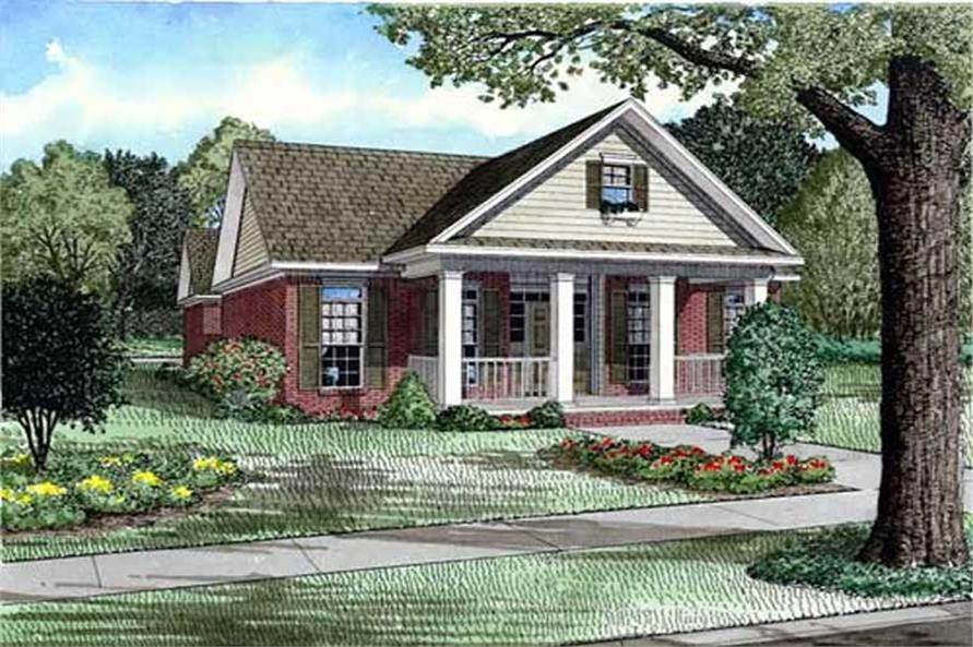 3-Bedroom, 1895 Sq Ft Country Home Plan - 153-1924 - Main Exterior