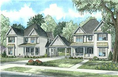 5-Bedroom, 3046 Sq Ft Country Home Plan - 153-1925 - Main Exterior