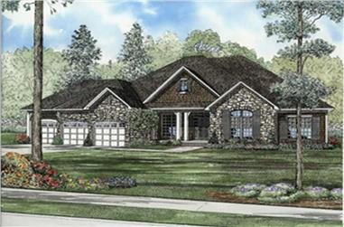4-Bedroom, 5723 Sq Ft European Home Plan - 153-1927 - Main Exterior