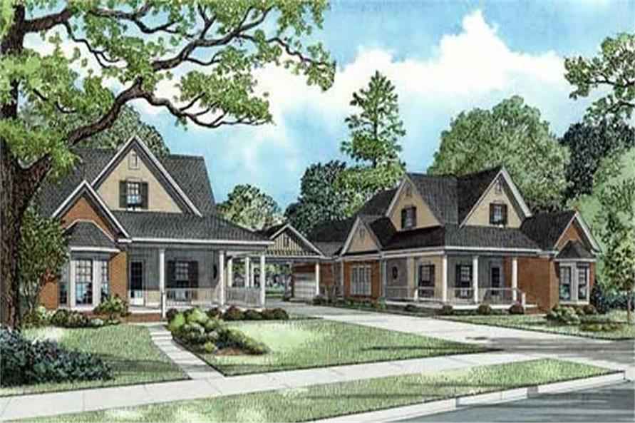 3-Bedroom, 1933 Sq Ft Country Home Plan - 153-1928 - Main Exterior
