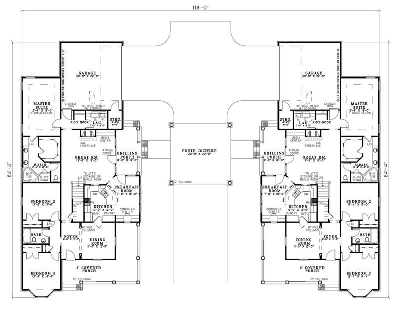 Traditional Multi Unit Country House Plans Home Design