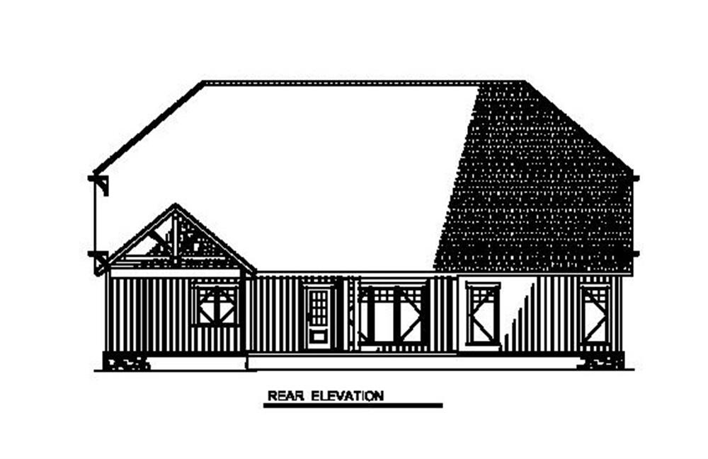 153-1931 house plan rear elevation