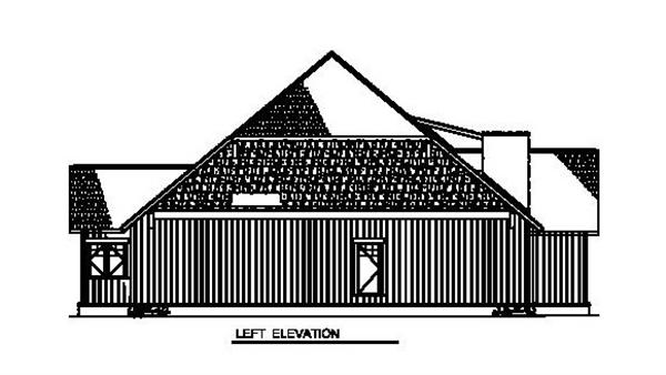 153-1931 house plan left elevation
