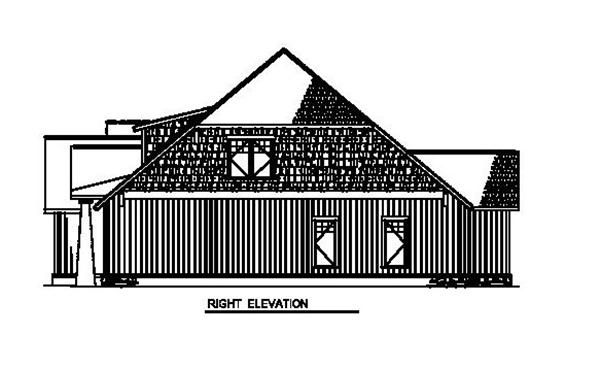 153-1931 house plan right elevation