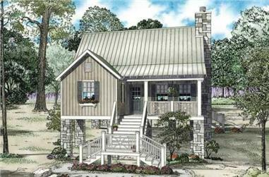 This is a colored rendering of Country house plans NDG-1202.