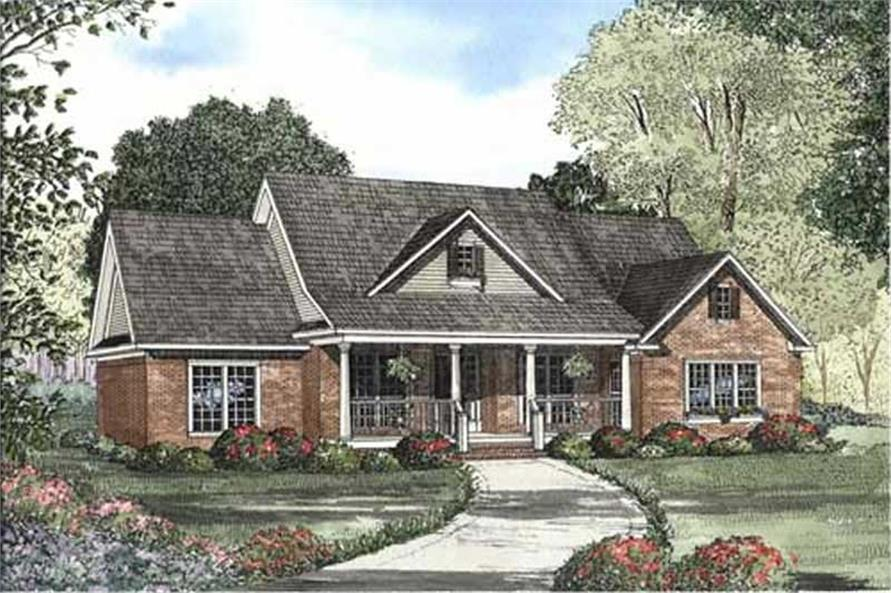 4-Bedroom, 2394 Sq Ft Country Home Plan - 153-1933 - Main Exterior