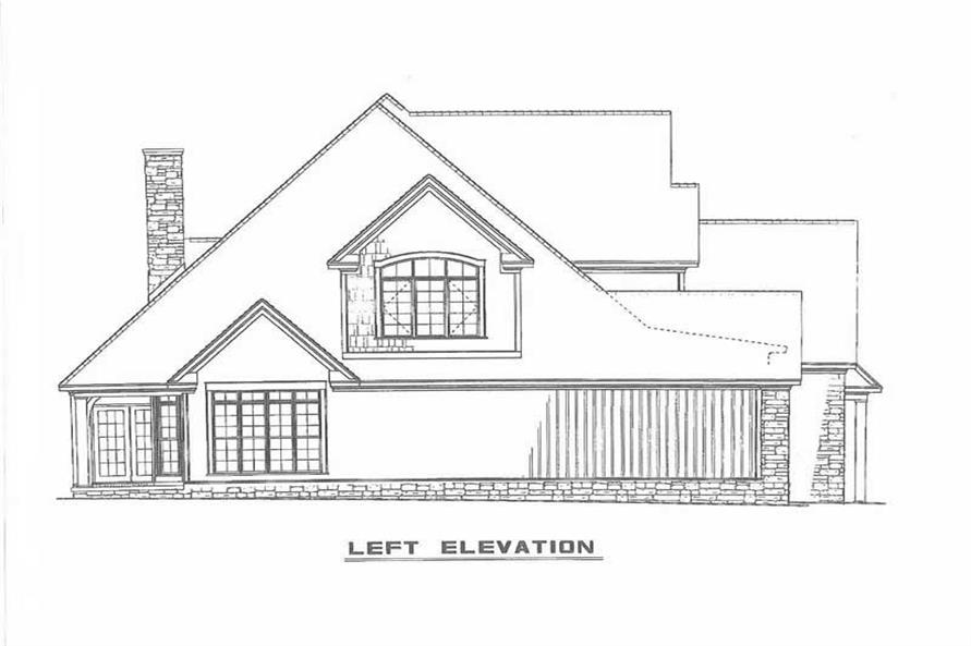 SIDE ELEVATION of this 4-Bedroom,2755 Sq Ft Plan -2755