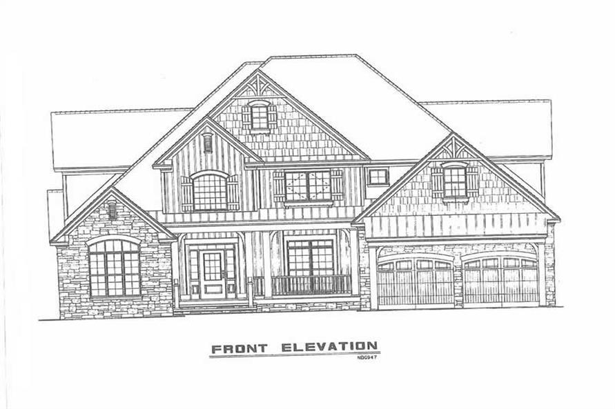 FRONT ELEVATION of this 4-Bedroom,2755 Sq Ft Plan -2755