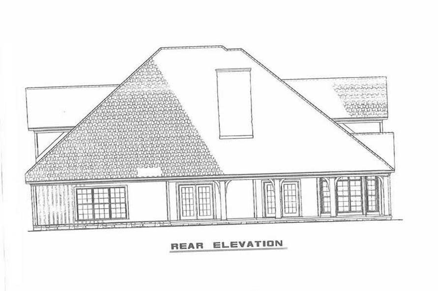 REAR ELEVATION of this 4-Bedroom,2755 Sq Ft Plan -2755