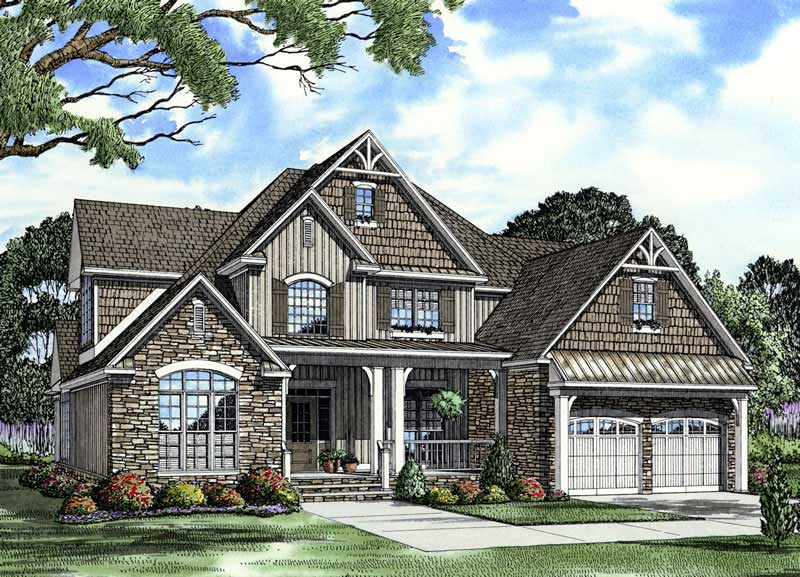 4 Bedrm 2755 Sq Ft Craftsman House Plan 153 1934