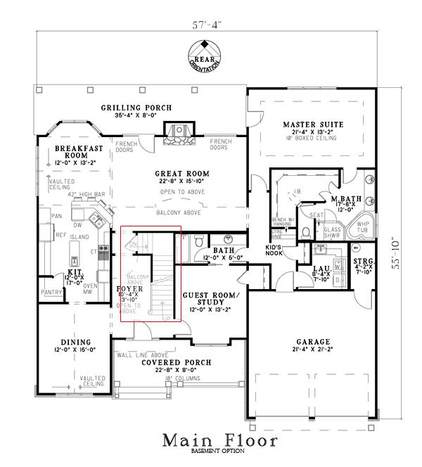 153-1934: Floor Plan Main Level