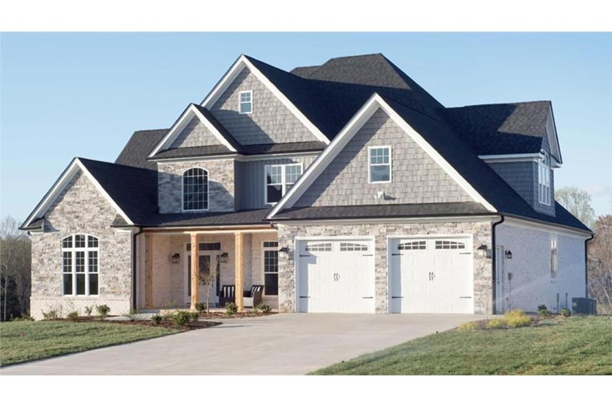 Front View of this 4-Bedroom,2755 Sq Ft Plan -153-1934