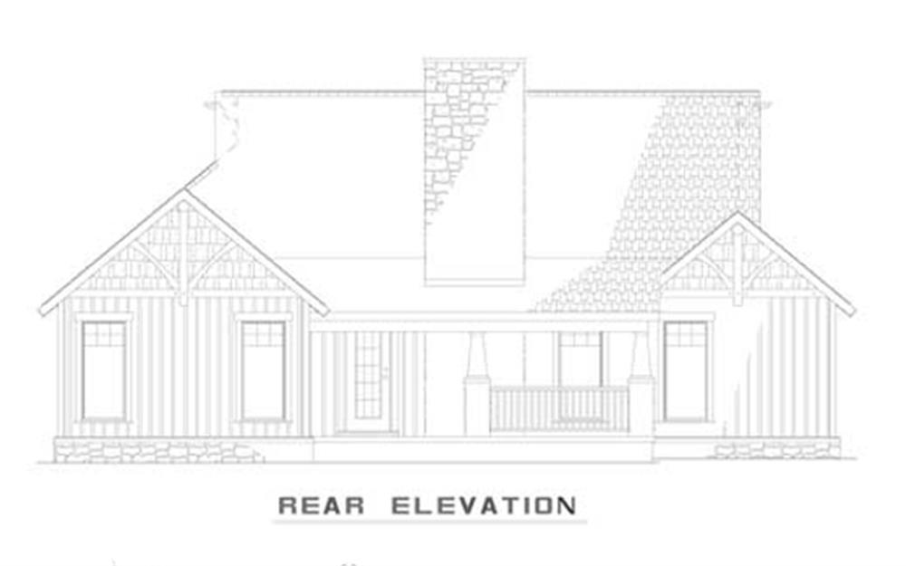 153-1935: Home Plan Rear Elevation