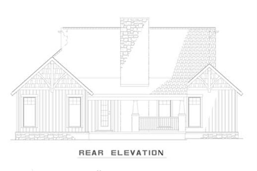 Home Plan Rear Elevation of this 3-Bedroom,1485 Sq Ft Plan -153-1935