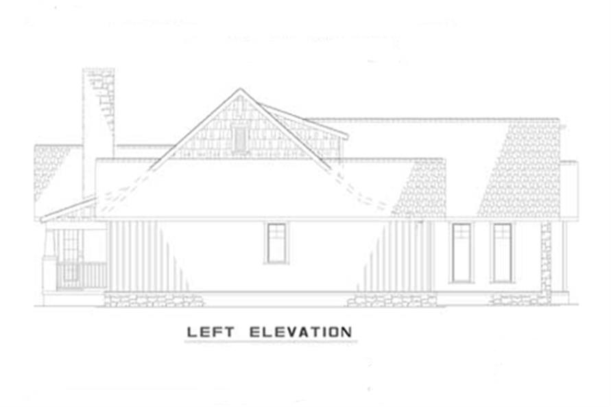 Home Plan Left Elevation of this 3-Bedroom,1485 Sq Ft Plan -153-1935