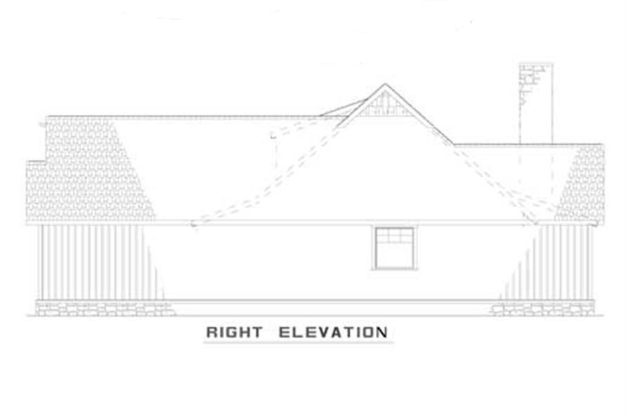 Home Plan Right Elevation of this 3-Bedroom,1485 Sq Ft Plan -153-1935