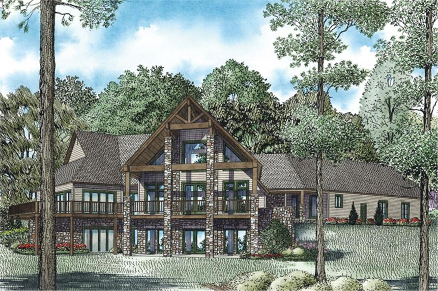 153-1937: Home Plan Rendering