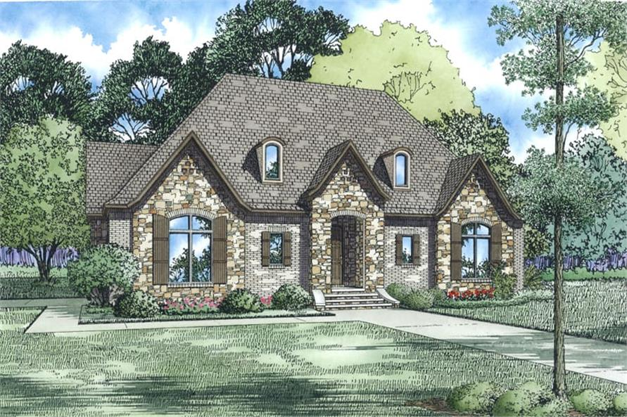 Front View of this 3-Bedroom,2998 Sq Ft Plan -153-1938