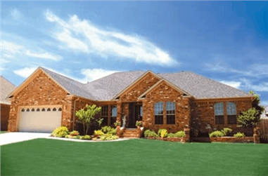 4-Bedroom, 2346 Sq Ft Ranch House Plan - 153-1939 - Front Exterior