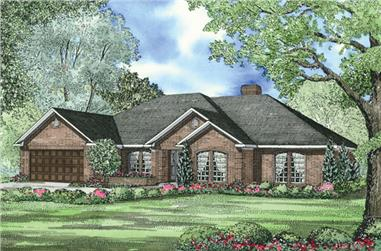 The Plan Collection: Front Elevation of Traditional House # 153-1939