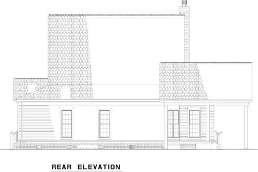 Home Plan Rear Elevation of this 4-Bedroom,2180 Sq Ft Plan -153-1940