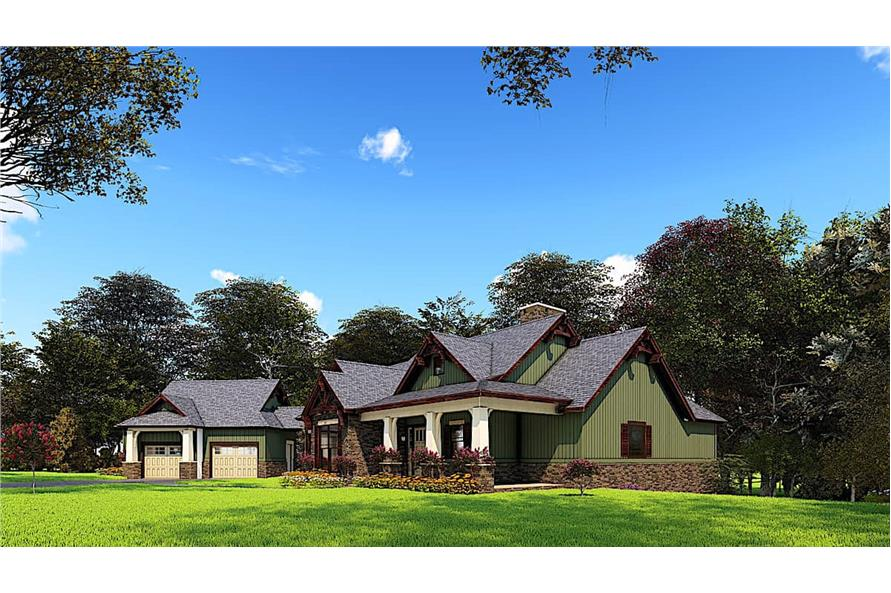 Right View of this 4-Bedroom,3574 Sq Ft Plan -153-1941