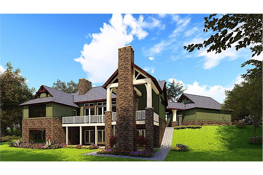 Rear Left View of this 4-Bedroom,3574 Sq Ft Plan -153-1941