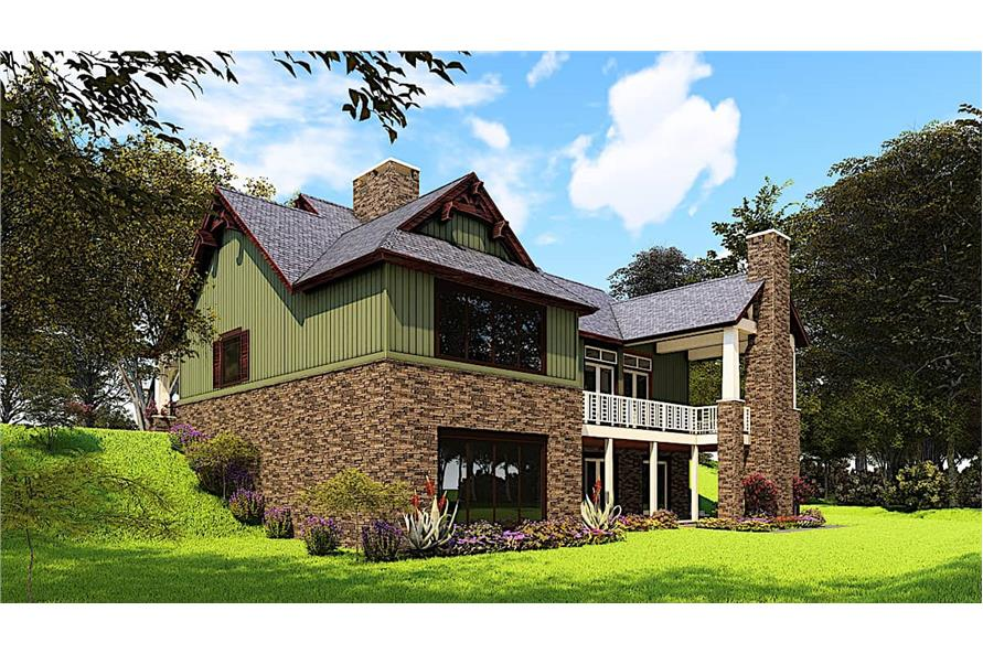 Rear Right View of this 4-Bedroom,3574 Sq Ft Plan -153-1941