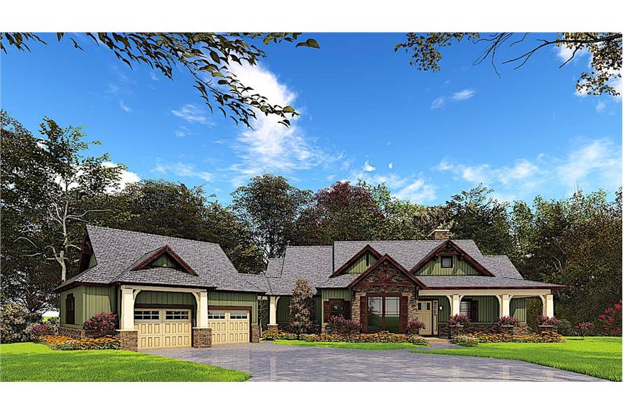 4-Bedroom, 3579 Sq Ft Texas Style House - Plan #153-1941 Front Exterior