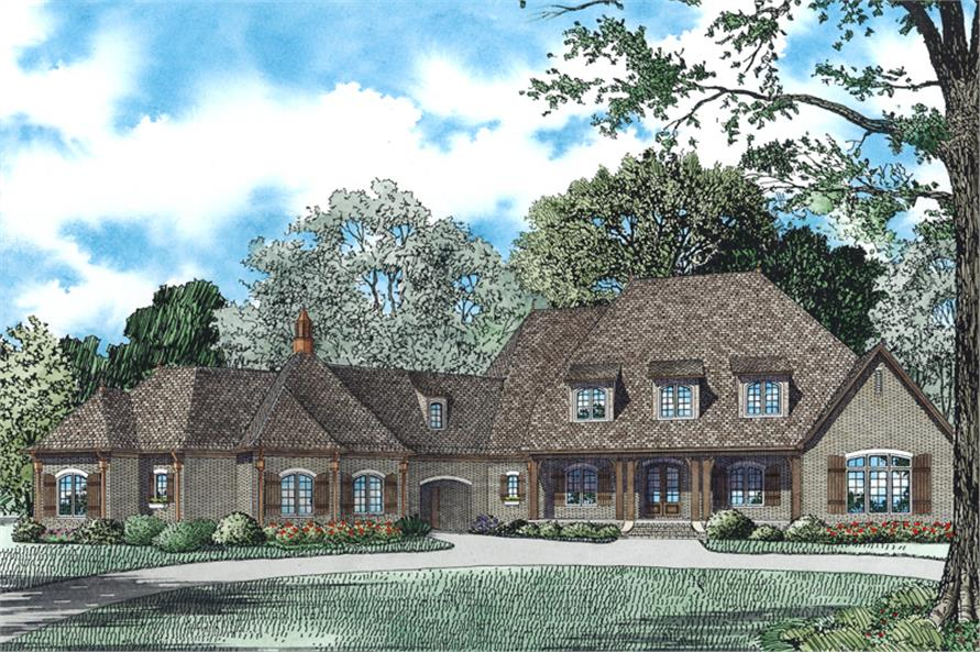 House Plan 153 1942 6 Bdrm 6 363 Sq Ft French Country