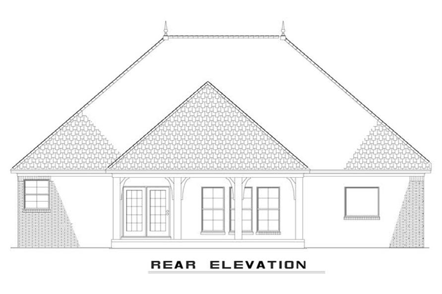 153-1943: Home Plan Rear Elevation