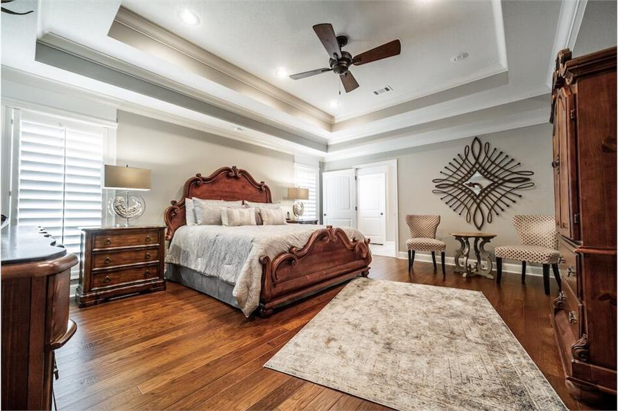 Master Bedroom of this 3-Bedroom,1711 Sq Ft Plan -1711