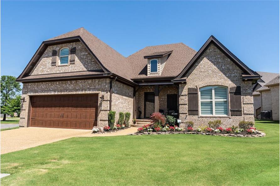 Front View of this 3-Bedroom,1711 Sq Ft Plan -1711