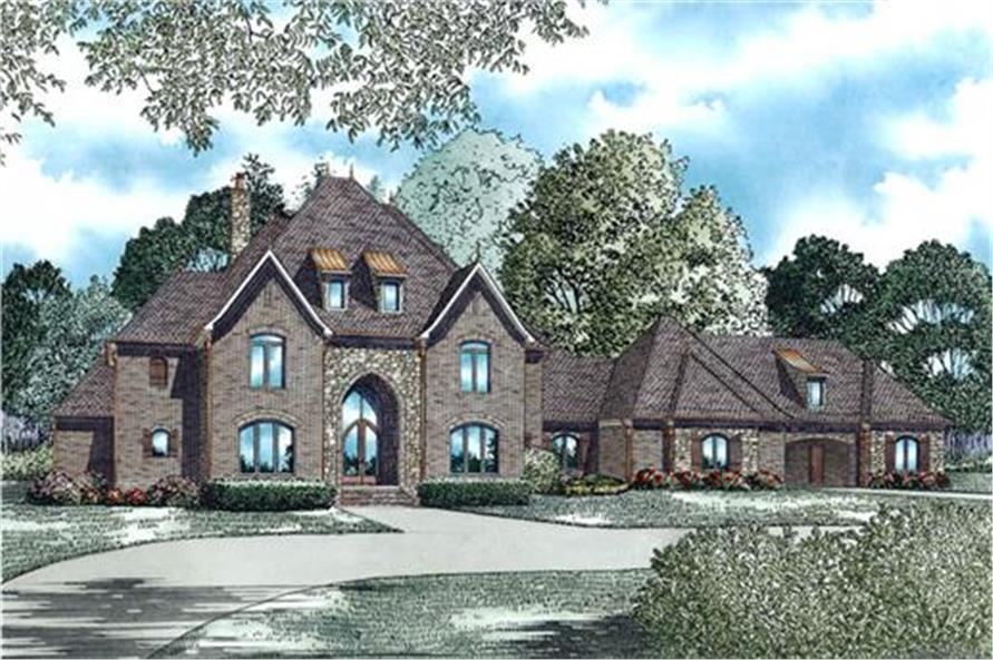Home Plan Rendering of this 3-Bedroom,4380 Sq Ft Plan -153-1944