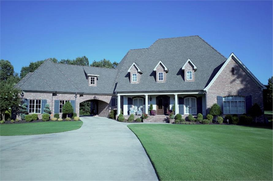 Front View of this 6-Bedroom,6004 Sq Ft Plan -153-1945