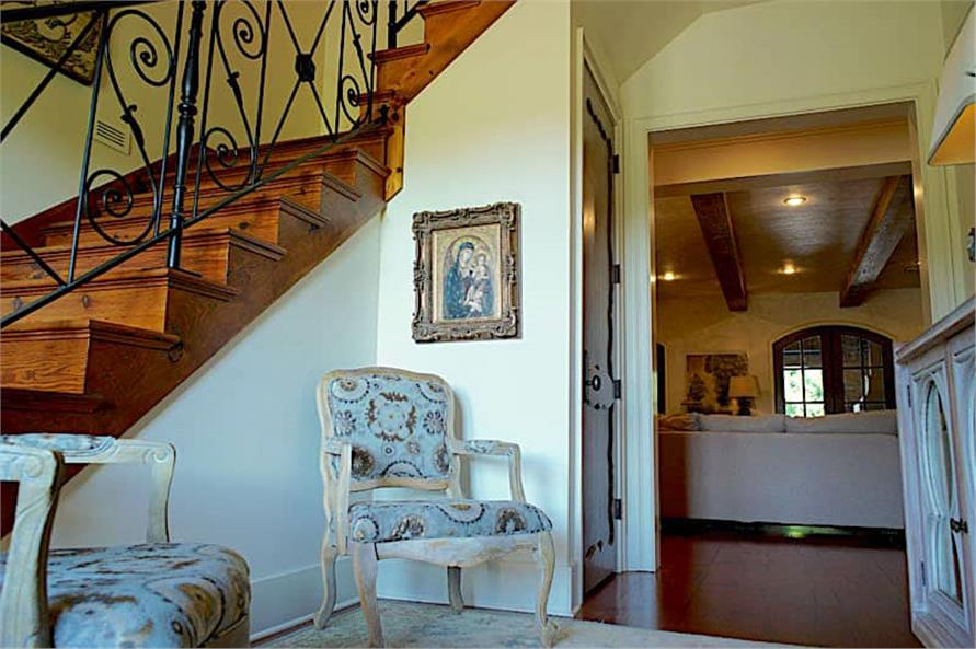 Entry Hall: Staircase of this 6-Bedroom,6004 Sq Ft Plan -153-1945