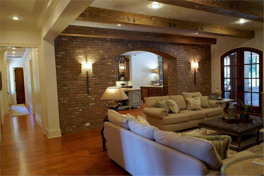 Great Room: Ceiling of this 6-Bedroom,6004 Sq Ft Plan -153-1945