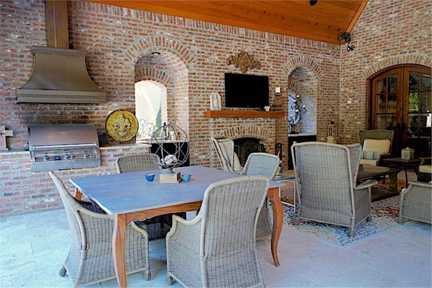 Grilling Porch of this 6-Bedroom,6004 Sq Ft Plan -153-1945