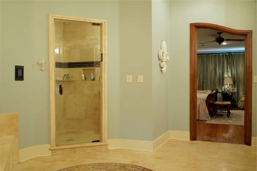 Master Bathroom: Shower of this 6-Bedroom,6004 Sq Ft Plan -153-1945