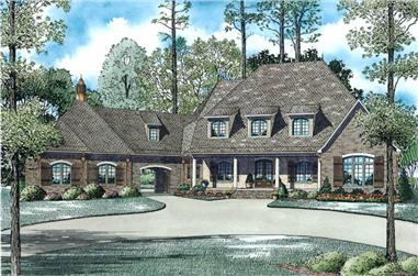 6-Bedroom, 6004 Sq Ft Luxury Home Plan - 153-1945 - Main Exterior