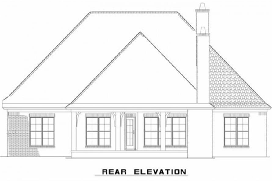 Home Plan Rear Elevation of this 3-Bedroom,2147 Sq Ft Plan -153-1946
